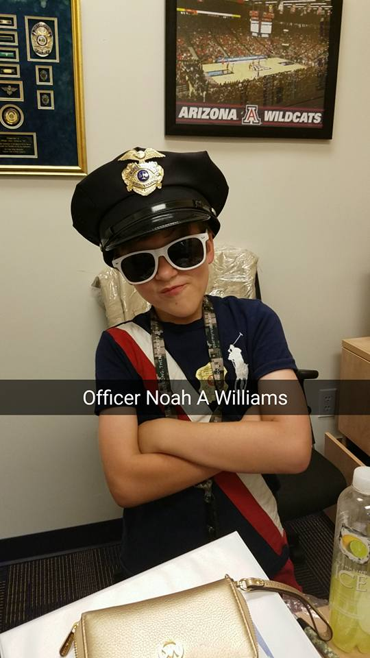 Noah in Police outfit